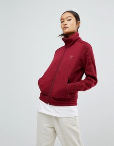 Read more about Adidas originals firebird track top in burgundy - pink