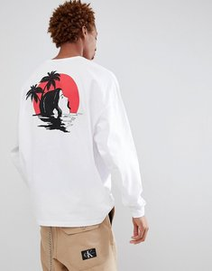 310fd732e6f8e Read more about Asos design oversized long sleeve t-shirt with face palm  tree back