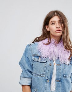 Read more about Asos bright small faux fur collar - lilac