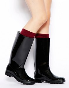 Read more about Asos gangster wellies - black