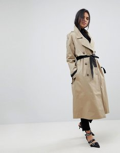 Read more about Asos mac with contrast belt - stone