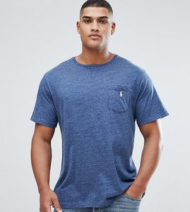 Read more about Polo ralph lauren tall pocket t-shirt with logo in blue - royal blue heather