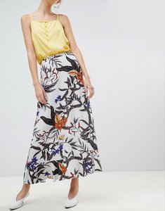 Read more about Gestuz floral printed long skirt - grey flower print