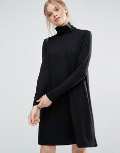 Read more about Vila roll neck dress - black