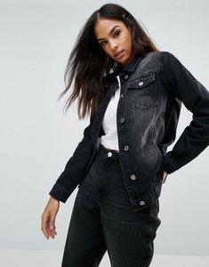 Read more about Brave soul denim boyfriend jacket - black