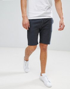 Read more about Asos skinny shorts with pinstripe in navy - navy