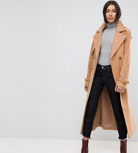Read more about Asos tall oversized trench coat - camel