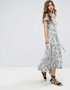 Read more about Lira floral maxi beach dress - ivory print