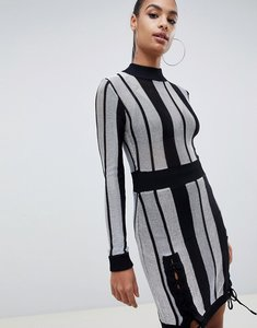 Read more about Missguided striped bodycon dress - multi