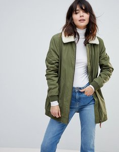 Read more about Parka london karin borg collared coat - olive