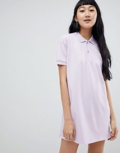 Read more about Pull bear rugby dress in colourblock lilac - lilac