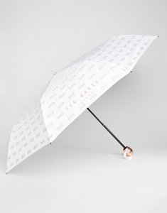 Read more about Ted baker bow embossed umbrella - dusky pink
