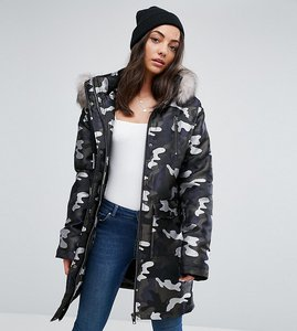 Read more about Asos tall parka in camo jacquard - multi