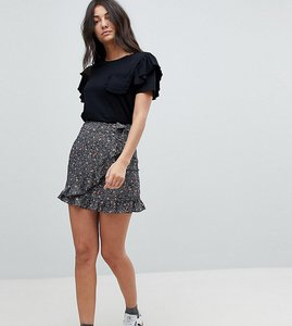 Read more about Glamorous tall mini wrap skirt in floral print - spot floral