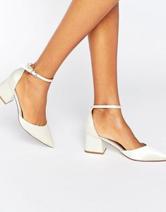 Read more about Asos starling bridal pointed heels - ivory satin