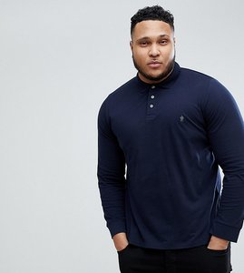 Read more about French connection plus long sleeve polo shirt - navy