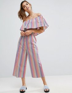 Read more about Asos one shoulder jumpsuit in multi stripe - multi stripe
