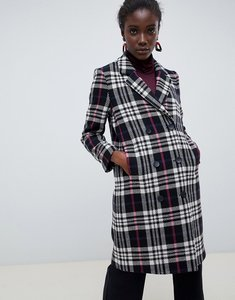 Read more about Selected femme wool check coat - black white check