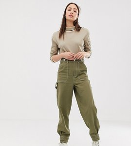 Read more about Asos design tall utility trouser with top stitching and tab detail