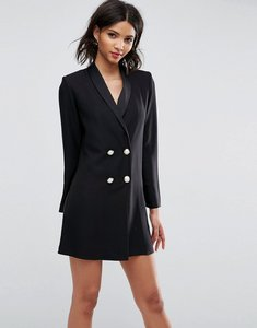 Read more about Asos ultimate tux blazer mini dress with pearl buttons - black