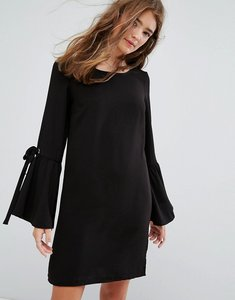 Read more about Pimkie flute sleeve tunic dress - black