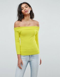 Read more about Warehouse bardot top - yellow
