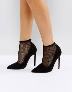 Read more about Asos polished sock high heels - black