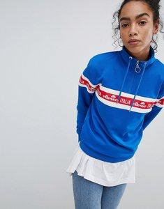 Read more about Ellesse italia oversized sweatshirt with italia logo and half zip - blue