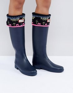 Read more about Hunter original arcade knit tall boot socks - bk1 - black 1