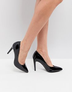 Read more about New look patent pointed court shoe - black
