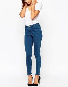 Read more about Asos ridley skinny ankle grazer jeans in aspen dark wash - dark stone wash