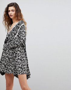 Read more about Free people like you best ditsy floral print dress - black combo