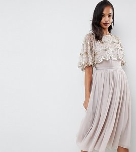 aa801a3ead Read more about Asos design scallop hem embellished crop top midi dress