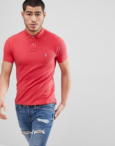 Read more about Polo ralph lauren slim fit pique polo in red marl - century red heather
