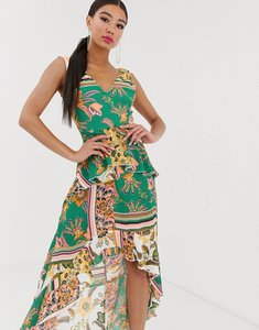 Read more about Missguided frill dip hem dress in paisley print
