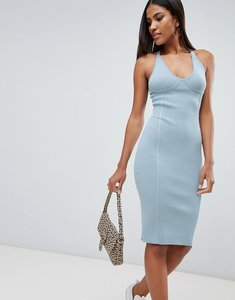 Read more about Missguided seam detail dress - blue