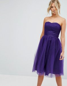 Read more about Hell bunny bandeau tulle dress - purple