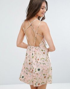 Read more about Asos floral print strappy back a-line sundress - floral print