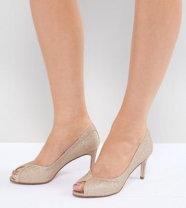 Read more about Asos design summer mid heels - champagne glitter
