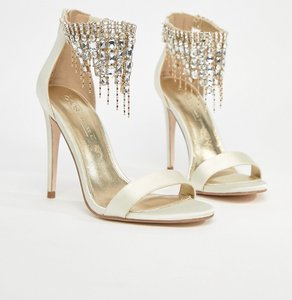 cb5ced12ac72 Read more about Asos halcyon bridal embellished heeled sandals - ivory