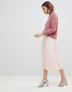 Read more about Y a s pleated midi skirt - pink
