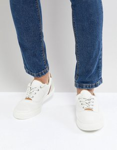 Read more about Lacoste jouer lace up plimsolls in white - white