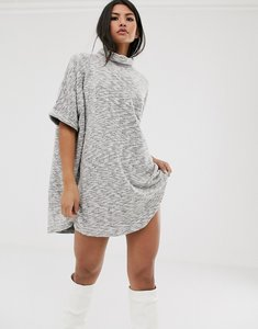 Read more about Asos design super oversized cowl neck mini dress in marl