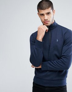 Read more about Polo ralph lauren half zip sweatshirt in navy marl - winter navy hthr