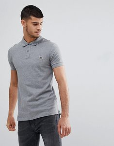 Read more about Ps paul smith slim fit zebra logo polo in grey marl - 72