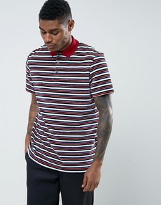 Read more about Asos relaxed polo shirt in towelling with retro stripes - multi