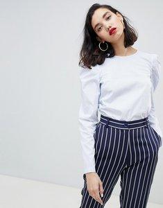 Read more about Esprit stripe structured shoulder blouse - blue stripe
