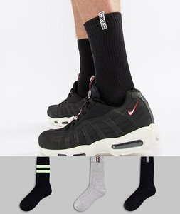 Read more about Asos festival sports style socks with aztec trim 3 pack - multi