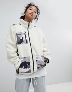 Read more about Dickies fleece jacket with camo patch pockets - white camo
