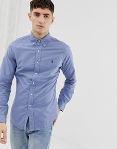 Read more about Polo ralph lauren slim fit garment dyed shirt with button down collar in mid blue